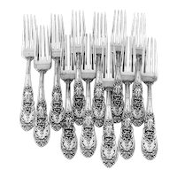 Richelieu Dinner Forks 12 Sterling Silver International 1935