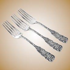 St Cloud Regular Forks 3 Sterling Silver Gorham 1885