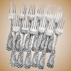 St Cloud Regular Forks 12 Sterling Silver Gorham 1885