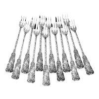 St Cloud Cocktail Forks 12 Sterling Silver Gorham Silversmiths 1885