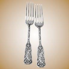St Cloud Regular Forks 2 Sterling Silver Gorham 1885