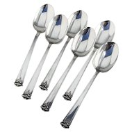 Trianon Dessert Place Soup Spoons 6 International Sterling Silver 1921