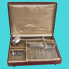Art Deco 37 Piece Flatware Set French Silverplate