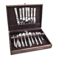Parallel 45 Piece Flatware Set Sterling Silver Georg Jensen 1931