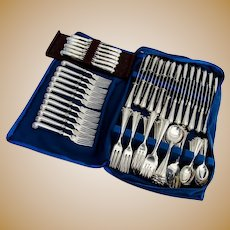 Onslow 123 Piece Flatware Set Sterling Silver CJ Vander London 1970