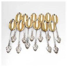 Aesthetic Demitasse Spoons Sterling Silver Wood and Hughes