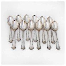 Demitasse Spoons 12 Scroll Design 800 Silver