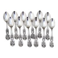 Francis I Demitasse Spoons 12 Sterling Silver Reed and Barton