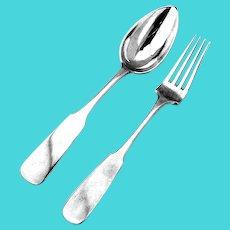 Table Fork Spoon 84 Standard Silver Warsaw Nast Korngold 1872 1896