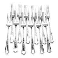 Colfax Dinner Forks 12 Sterling Silver Durgin Gorham 1922