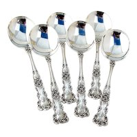 Buttercup Gumbo Soup Spoons Set Gorham Sterling Silver Mono