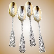 Gorham Saint Cloud Ice Cream Spoons Set Sterling Silver Mono