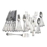 Tiffany Co Provence 25 Piece Regular Flatware Set Sterling Silver 1961