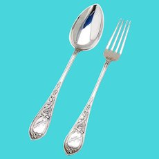 Celtic Dragon Tablespoon Fork Set 830 Standard Silver