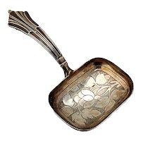 Floral Engraved Tea Caddy Spoon Thropp Sterling 1817 Birmingham