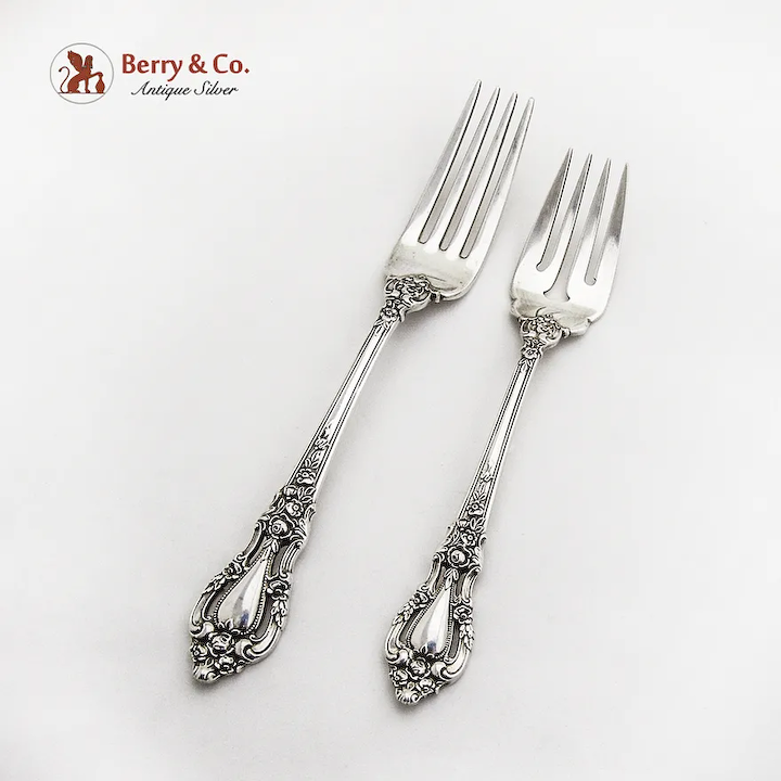 Salad Fork 1953 Sterling Silver 6 1//2 in in Eloquence by Lunt