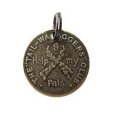 1930's Tailwaggers Club English Animal & Dog Welfare Tag, Token, Medal