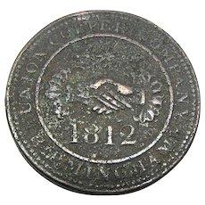 1812 Union Copper Co. Birmingham, Warwickshire England Penny Token