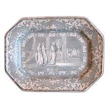 1840 Clementson Small Penelope of Homer's Odyssey Transferware Platter