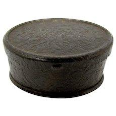 1890's Tiny Pressed Tin Tobacco Snuffbox