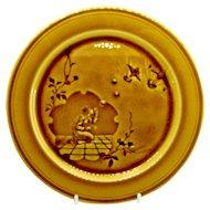 1880's French Choisy-Le-Roi Aesthetic Majolica Japanesque Faience Pottery Plate