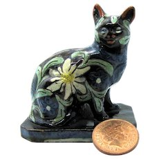 1900 Swiss Thun or Thoune Cat Figural Bank / Money Box