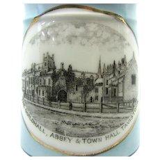 1890's Tavistock Victorian Souvenir Transferware Coffee Can Souvenir Mug