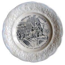 "1830's J & M.P. Bell ""History of Joseph"" Child's Plate, Glasgow Scotland"