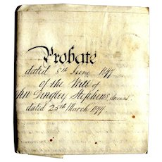 1877 Vellum Last Will of John Dingley Stephens, Henwood, Linkinhorne, Cornwall UK