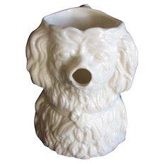 1880 John Sowerby Vitro Porcelain Glass Toby Jug Dog, Newcastle Durham UK