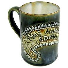 1903 Royal Doulton's Louisa Wakely: Child's Christening Mug of Thomas JE Barrett
