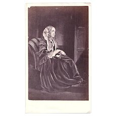 1860 Lady Mary Fortescue Williams ID'd CDV Photo, Nobility, born 1793, Schoolmistress in Clovelly, Devon