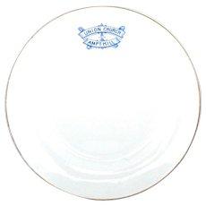 1900 Ampthill Union Church Blue & White Staffordshire Transferware Plate, Bedford, England