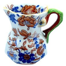 "1820 Tiny 3"" Masons Ironstone Hydra Jug / Pitcher Basket Japan Pattern"