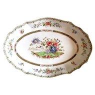 "c. 1900 Edwardian era Copeland Late Spode ""Lyon"" Pattern Bowl Platter"