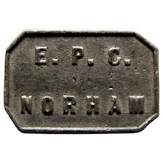 1845 EPC Norham Presbyterian Church Communion Token, Northumberland UK