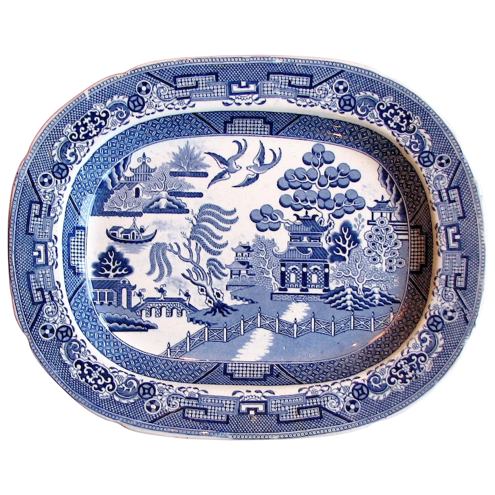 Pottery Ironstone England Porcelain Blue And White Willow Small Plate,set Of 5 Buy One Get One Free Pottery, Porcelain & Glass