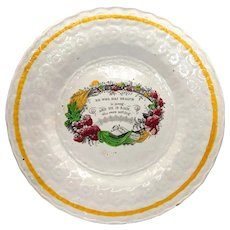 """1820's """"He Who Has Health"""" Proverb Staffordshire Pearlware Child's Plate"""