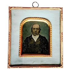 Genealogy: 1850's William Wall ID'd Ambrotype Portrait, from Shakespeare's Stratford Upon Avon UK