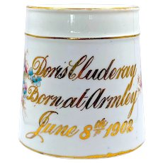 1902 Doris Cluderay Child's Christening Mug of Armley, Yorkshire, Leeds UK