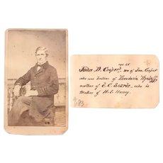 Genealogy: 1860 JD Cooper Civil War era ID'd CDV-Schoharie NY