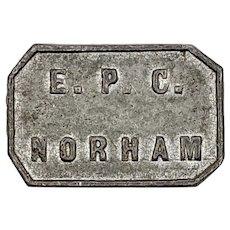 1845 EPC Norham Presbyterian Church Communion Token, Northumberland UK