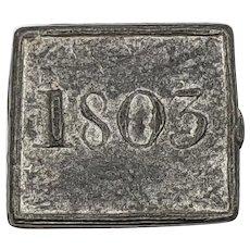 1803 Durness Kirk of Session Scottish Highlands Communion Token, Scotland