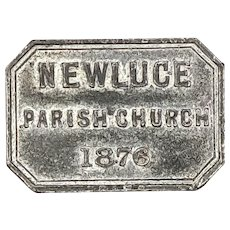 1876 Scottish Communion Token of Newluce Parish Church