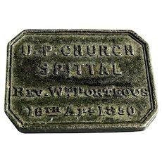 1850 Spittal Presbyterian Church Communion Token, Northumberland, England