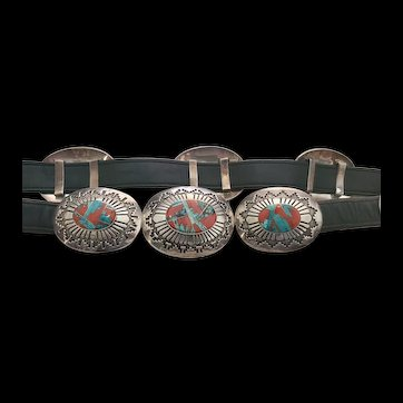Tommy Jackson Navajo Native American Concho Belt
