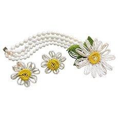 Rare & Wonderful Vintage MIRIAM HASKELL Floral Bracelet Earrings