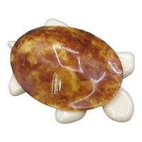 Large Vintage Agatha Paris Branded Lea Stein Turtle Pin Brooch