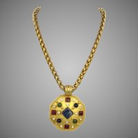 Vintage 1990's Alfred Sung Pendant Necklace