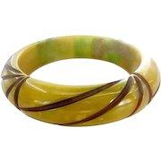 Authentic Vintage Bakelite End of Day Resin Washed Bracelet